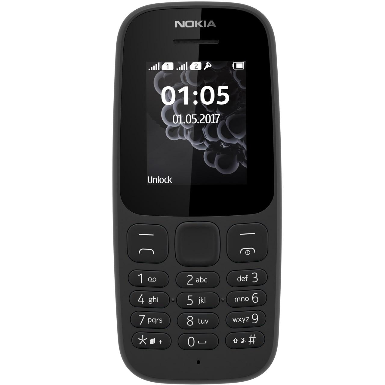 گوشی موبایل نوکیا مدل 105 (2017) دو سیم کارت - با قیمت ویژه