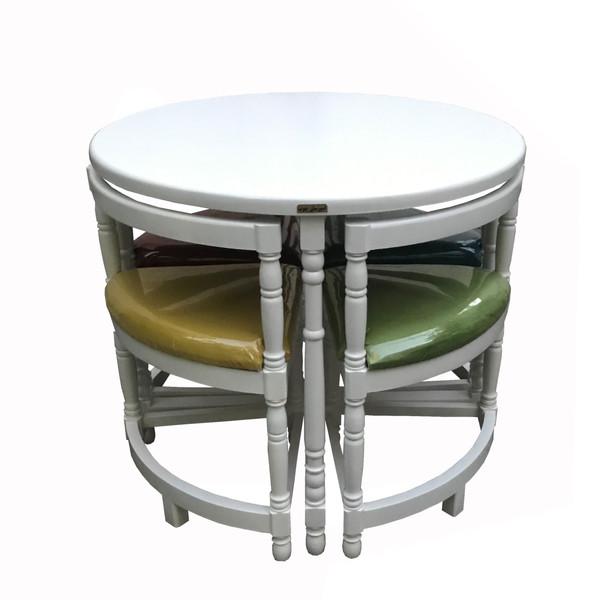 میز و صندلی ناهار خوری اسپرسان چوب مدل Sm39