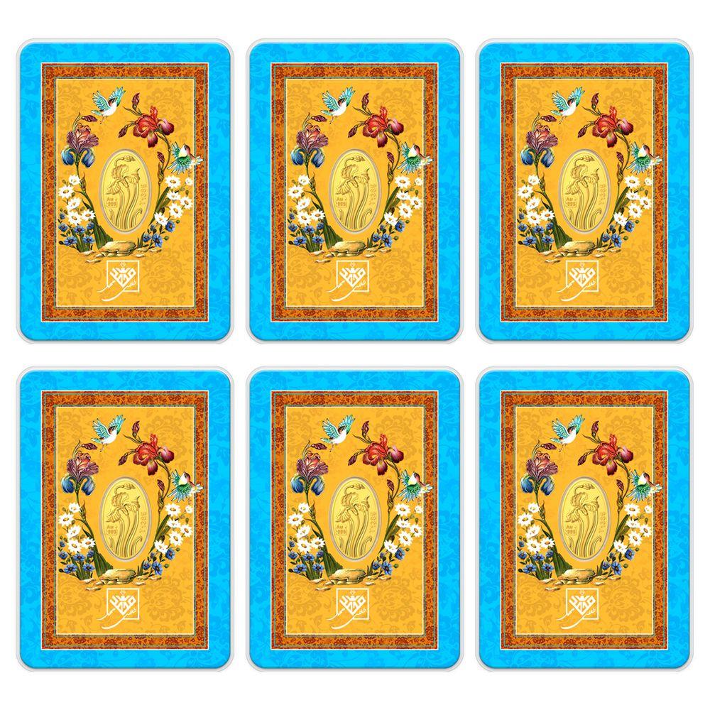 تصویر شمش طلا 24 عیار طلای محمد طرج گل زنبق مجموعه 6 عددی