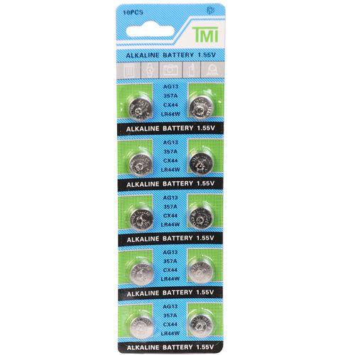 باتری ساعتی تی ام آی مدل LR44 A76 AG13  بسته 10 عددی