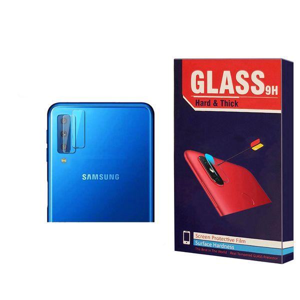 محافظ لنز دوربین Hard and thick مدل F-01 مناسب برای گوشی موبایل سامسونگ Galaxy A7 2018 بسته 2 عددی