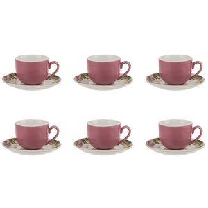 سرویس چینی 12 پارچه چای خوری چینی زرین ایران سری ایتالیا اف مدل لیلین درجه یک