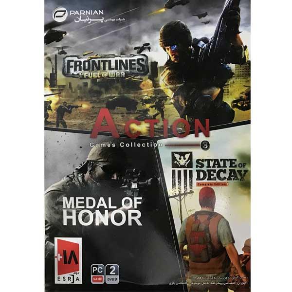 خرید اینترنتی مجموعه بازی action games collection 3 مخصوص pc نشر پرنیان اورجینال