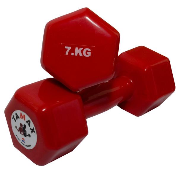 دمبل تامکس کد 002 وزن 7 کیلوگرم بسته 2 عددی