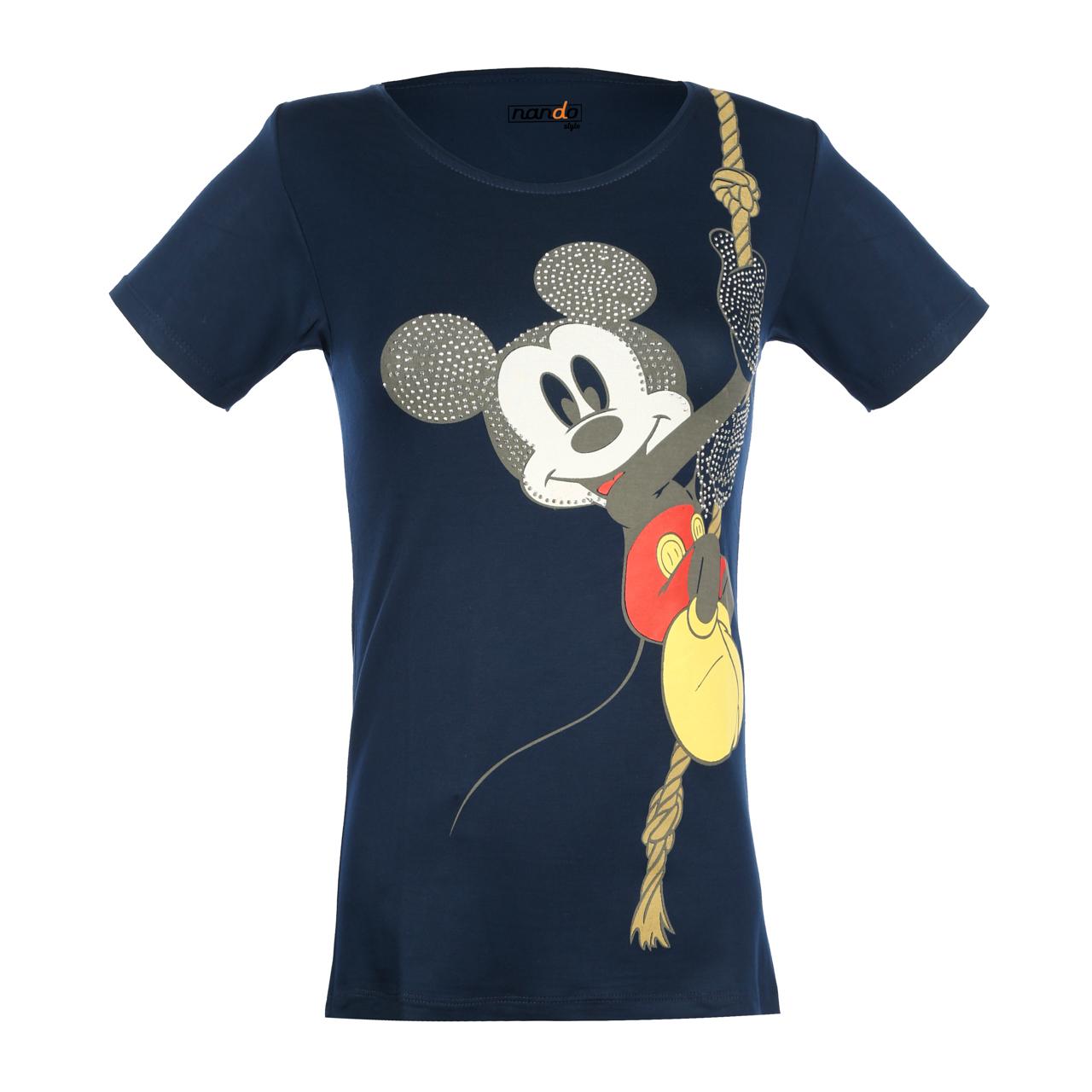 تی شرت زنانه ناندو استایل طرح میکی موس کد NS33