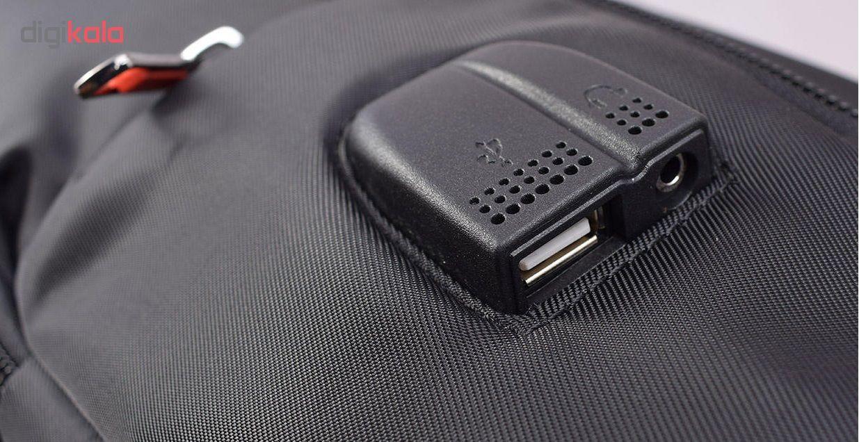 کوله پشتی لپ تاپ تیرولمدل 10118M636مناسب لپ تاپ 15.6 اینچی
