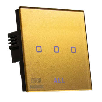 کلید لمسی کریستال گلدور سهپل مدل ACE 3Gang