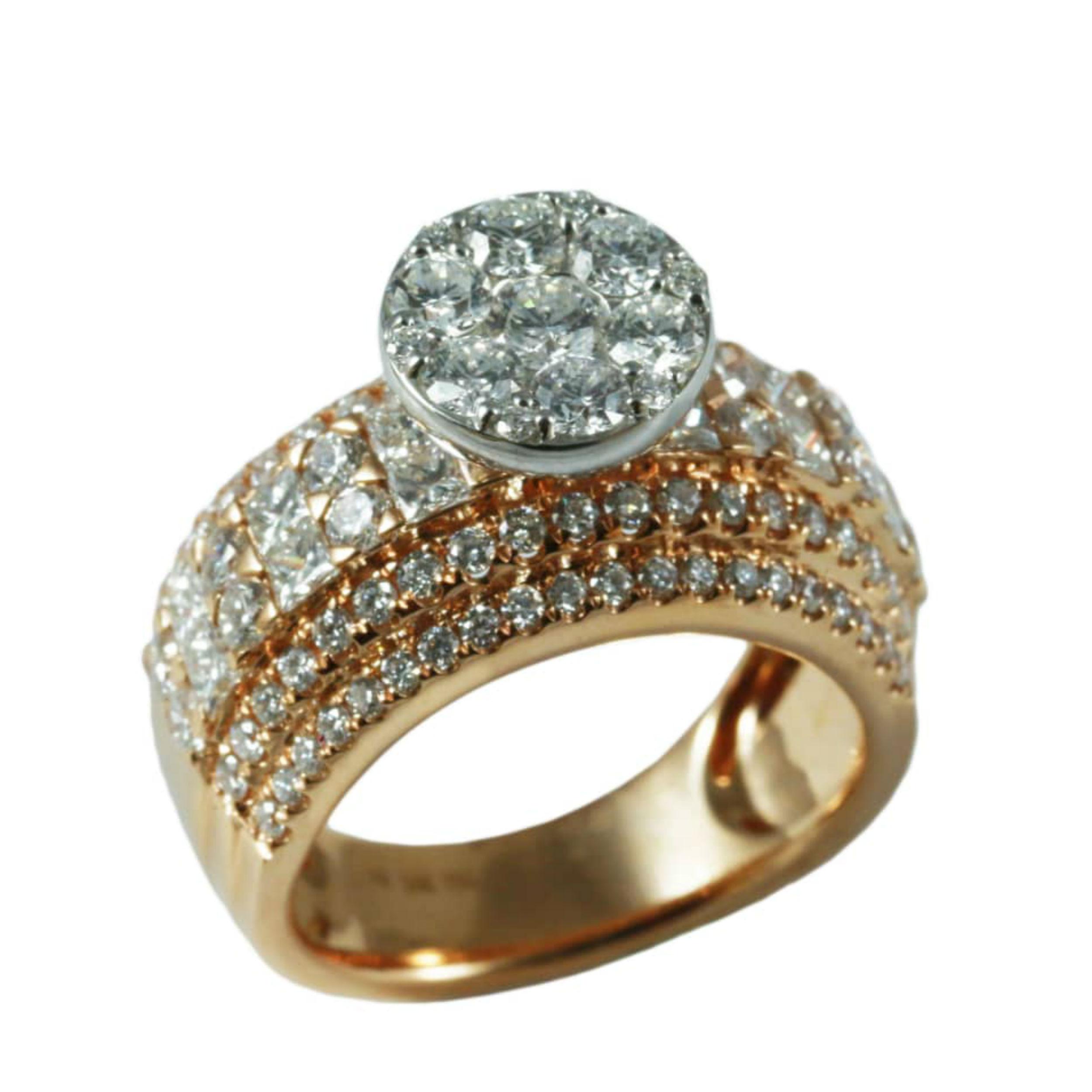 قیمت انگشتر طلا 18 عیار زنانه مدل KG1006