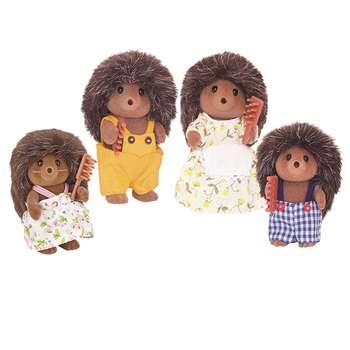 عروسک سیلوانیان فامیلیز طرح  خانواده خارپشت کد 4018 بسته 4 عددی