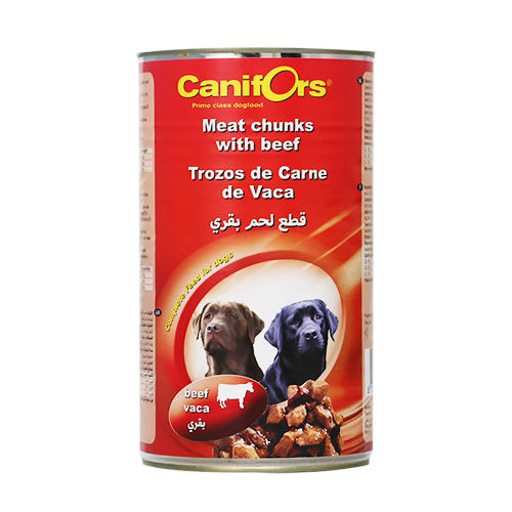 کنسرو غذای سگ کنیفورس مدل Meat Rund وزن 1250 گرم