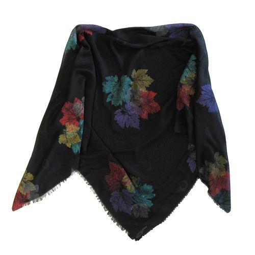 روسری زنانه سروین طرح برگ کد SBA108