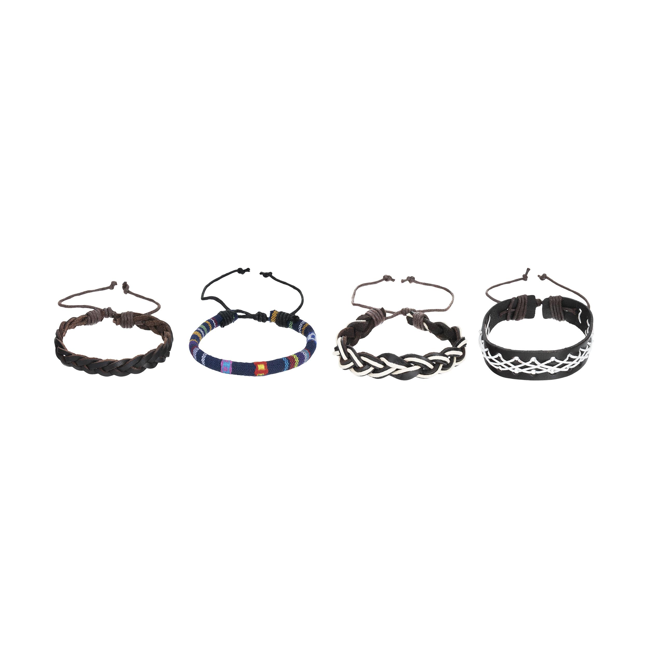 دستبند مردانه کد 6 مجموعه 4 عددی