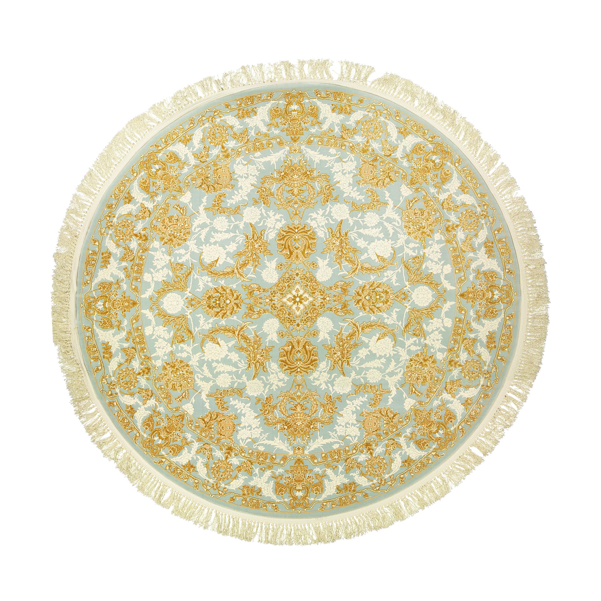 فرش ماشینی عرش طرح سنا کد R زمینه آبی