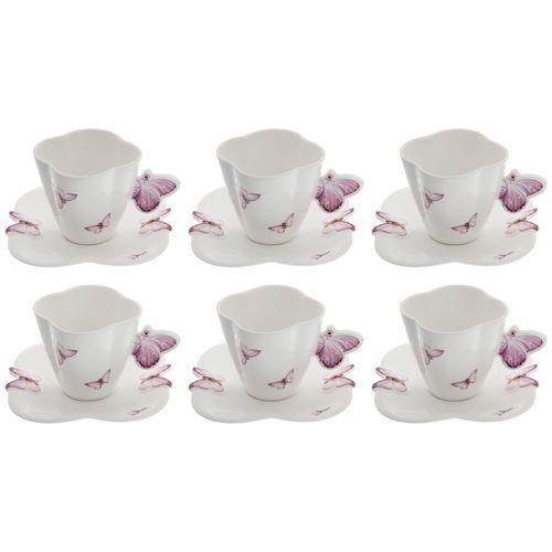 سرویس چای خوری 12 پارچه گلدکو طرح پروانه مدل  13UK-6S