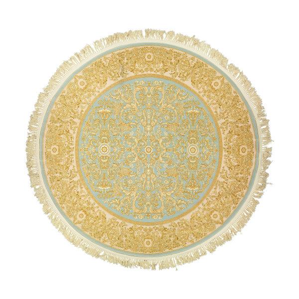 فرش ماشینی عرش طرح یلدا کد R زمینه آبی