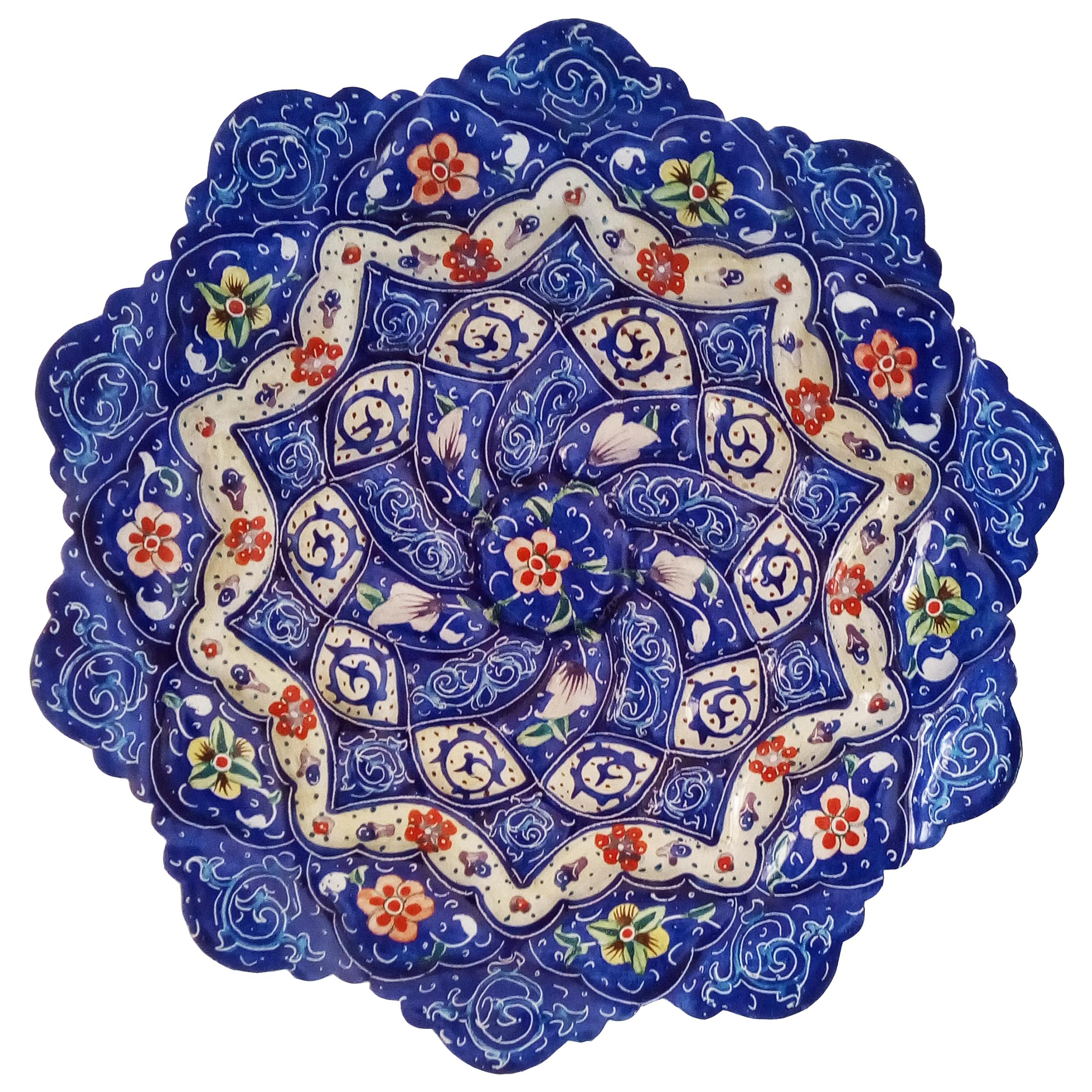بشقاب میناکاری طرح نقاشی پرداز مدل دلکش کد 16