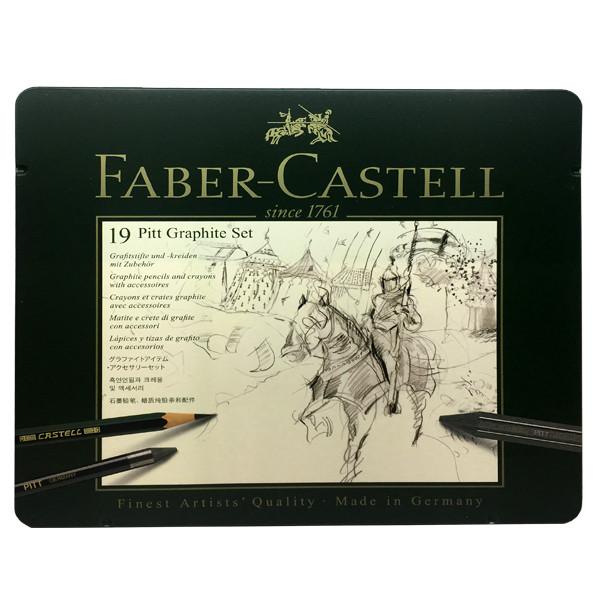 مداد گرافیت فابرکاستل مدل پیت مونوکروم کد 131846 مجموعه 19عدی