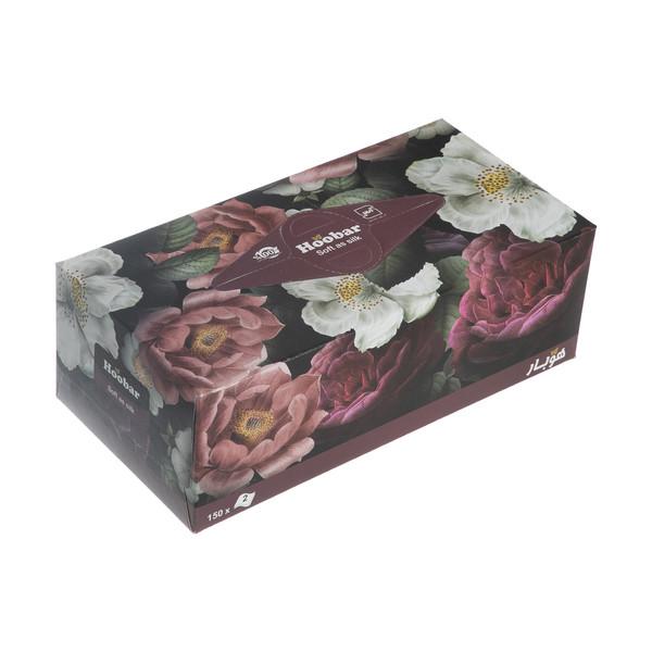 دستمال کاغذی 150 برگ هوبار مدل Flower