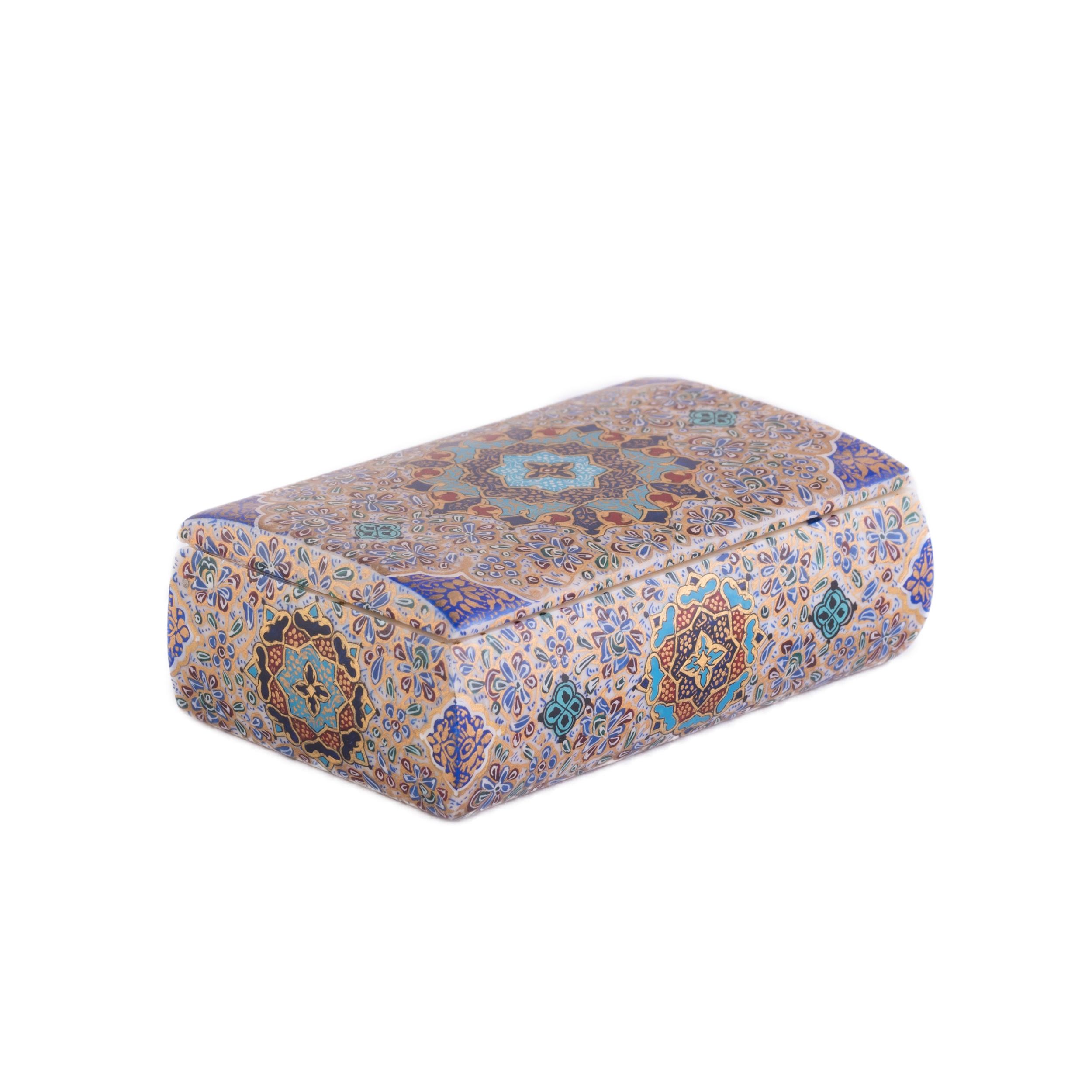 جعبه جواهرات استخوانی مدل کبریتی تذهیب