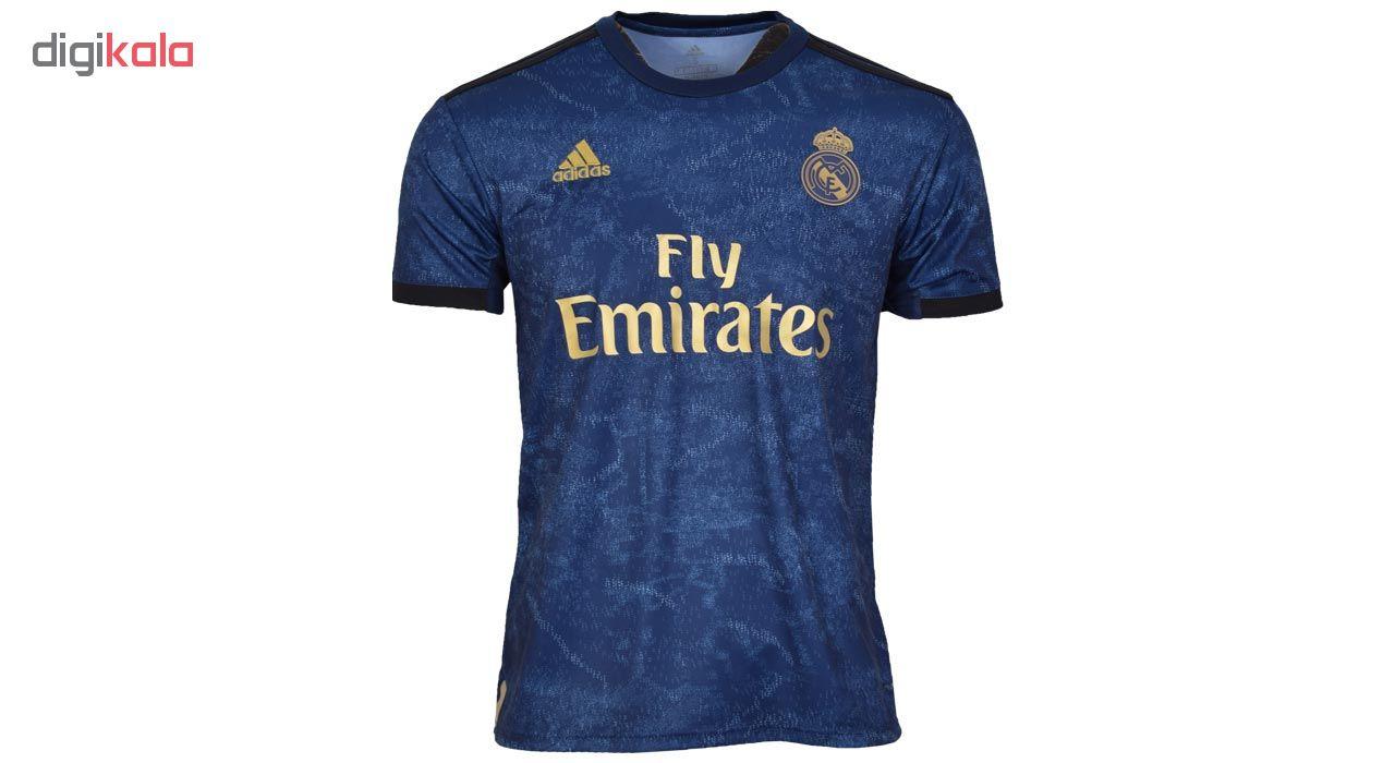 تیشرت ورزشی مردانه طرح رئال مادرید کد 1920 رنگ سرمه ای
