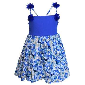 پیراهن دخترانه کد 377 رنگ آبی