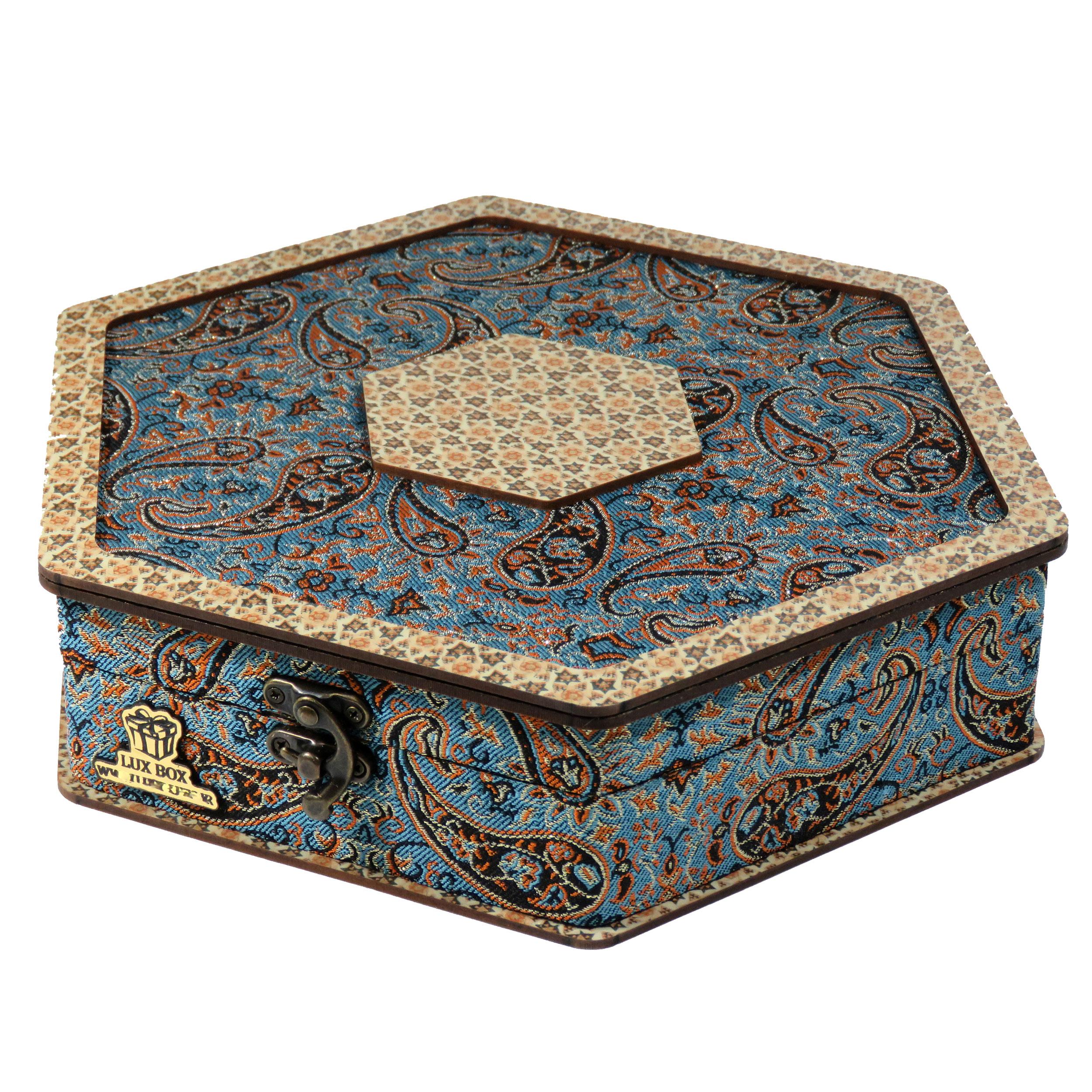 جعبه هدیه ترمه لوکس باکس مدل LB012
