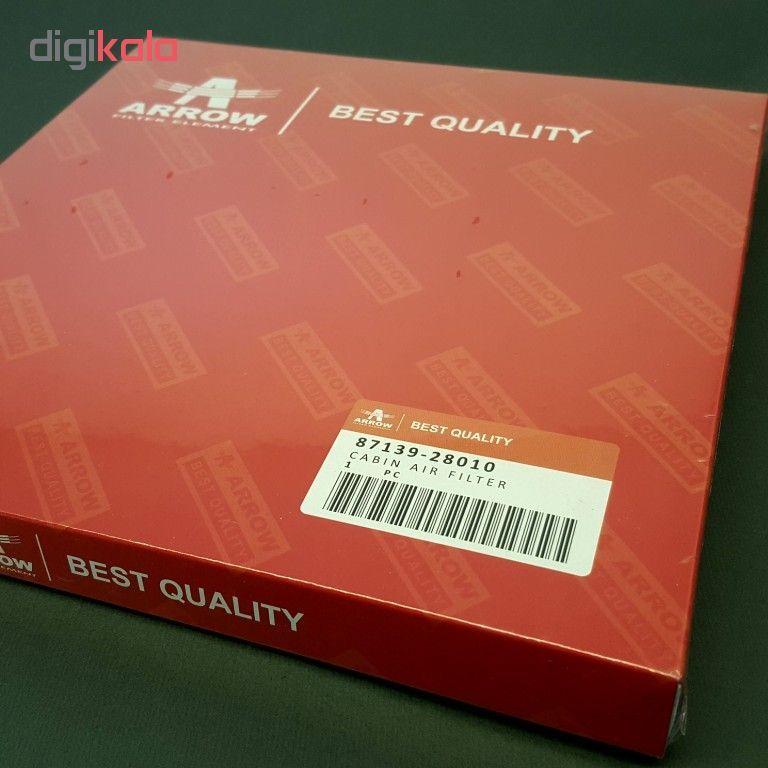 فیلتر کابین خودرو آرو کد 28010 مناسب برای تویوتا کرولا و کمری و پرادو و لکسوس RX main 1 3