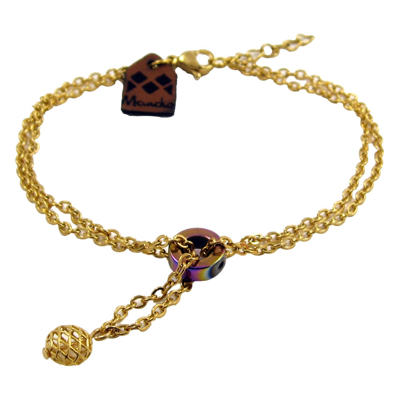 قیمت دستبند طلا 18عیار زنانه مانچو مدل bfg144
