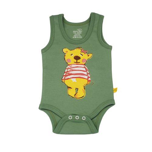 بادی نوزادی دخترانه شابن طرح خرس دختر