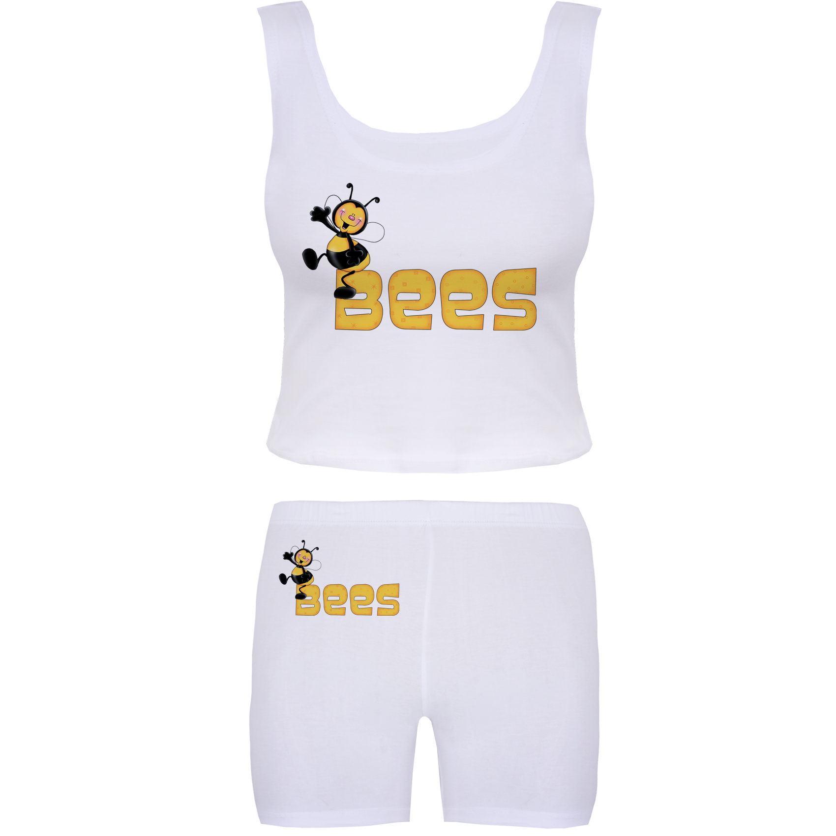 خرید                                      ست تاپ و شلوارک زنانه آکو طرح BEES کد BS90