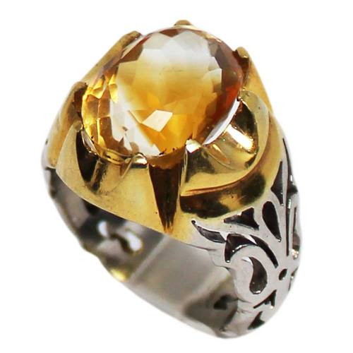 انگشتر نقره مردانه کد 01646
