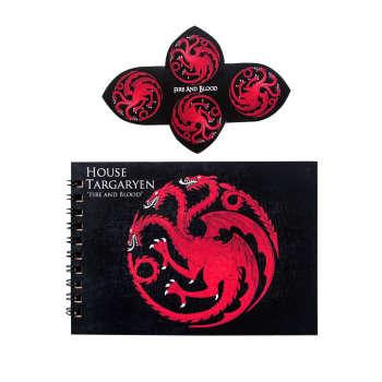 دفتر یادداشت بیگای استودیو مدل خاندان تارگرین گیم آف ترونز به همراه نشانگر کتاب