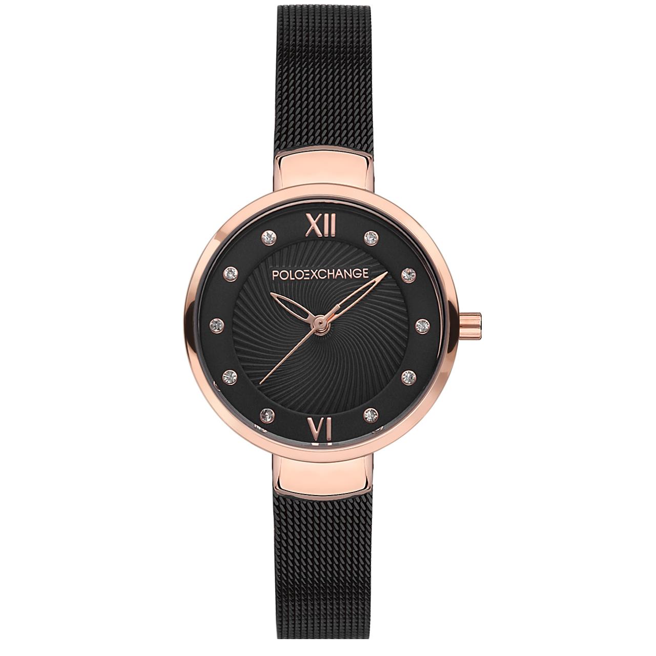 ساعت مچی عقربه ای زنانه پولو اکسچینج مدل PX0111-03