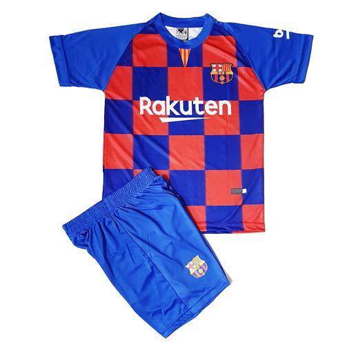 ست پیراهن و شورت ورزشی پسرانه طرح بارسلونا کد 2019