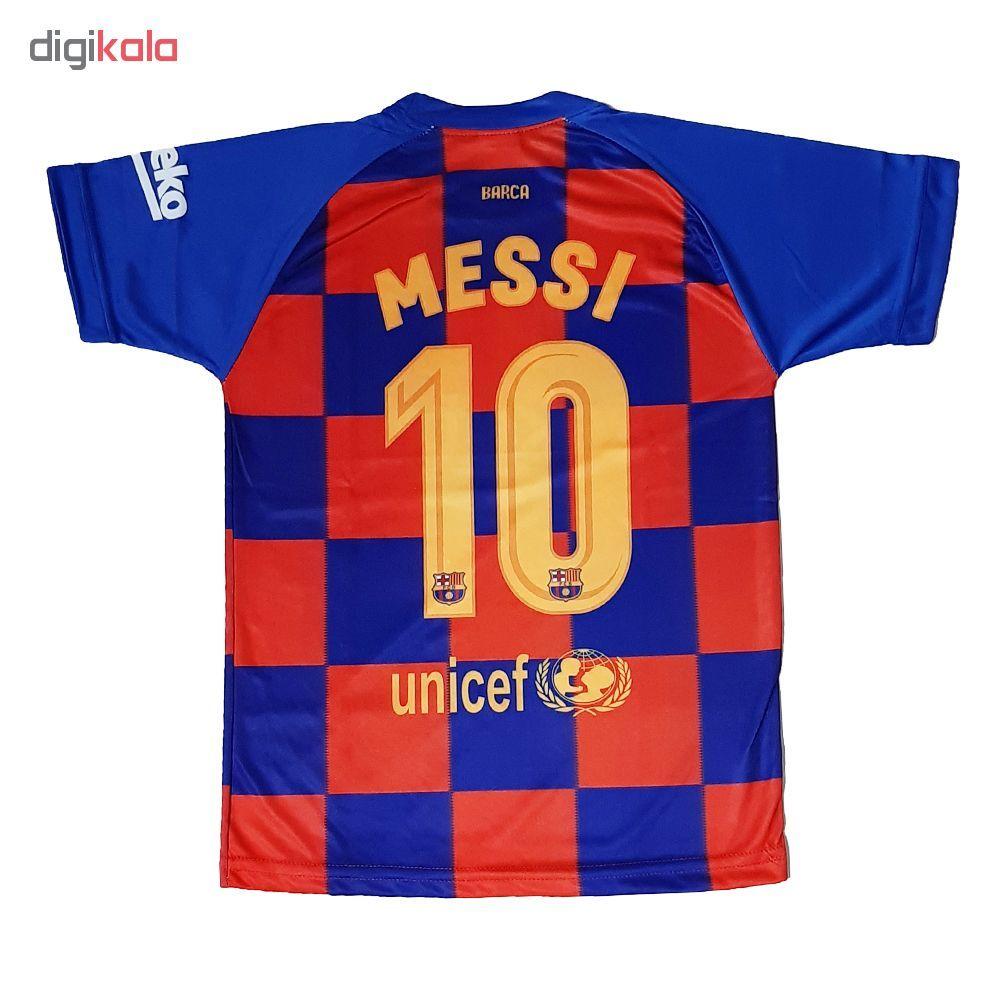 ست پیراهن و شورت ورزشی پسرانه طرح بارسلونا کد 2019 main 1 1