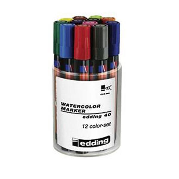 ماژیک 12 رنگ ادینگ مدل واترکالر 40
