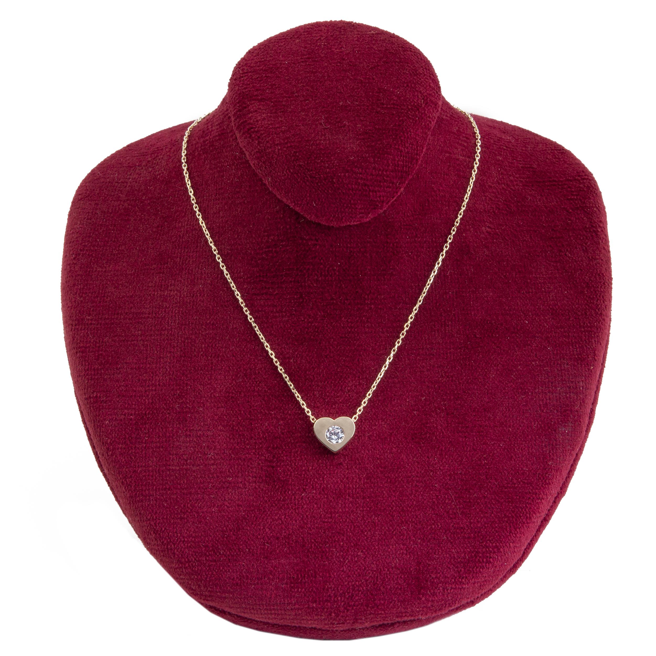 قیمت گردنبند طلا 18 عیار زنانه جواهرات ژوپی یر مدل JH14