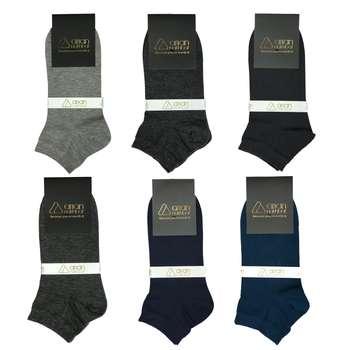 جوراب مردانه آریان نخ باف کد 6-5122 بسته 6 عددی