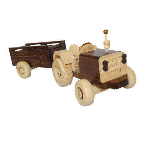 ماکت دکوری طرح تراکتور با تریلی کد 1820