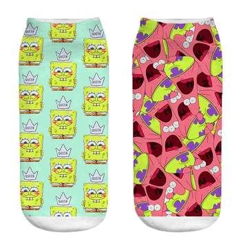 جوراب زنانه طرح باب اسفنجی کد CH1015