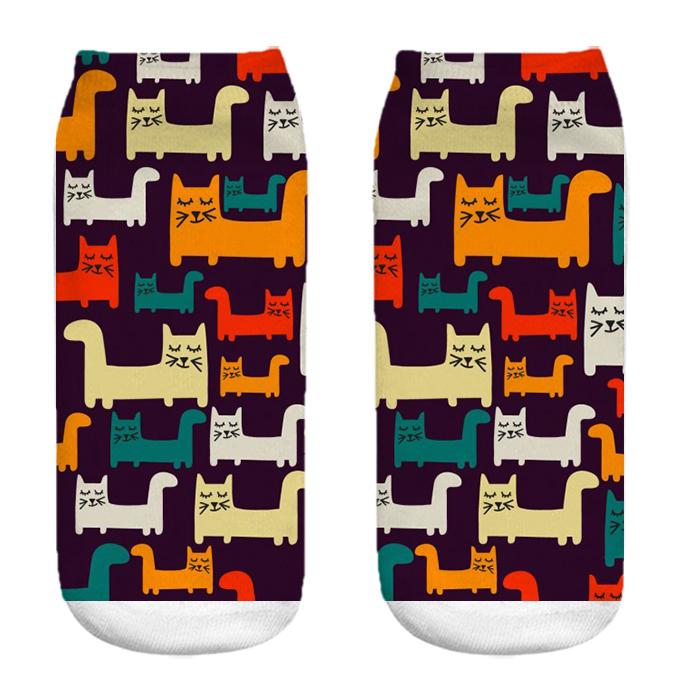 جوراب زنانه طرح گربه کد CH1033