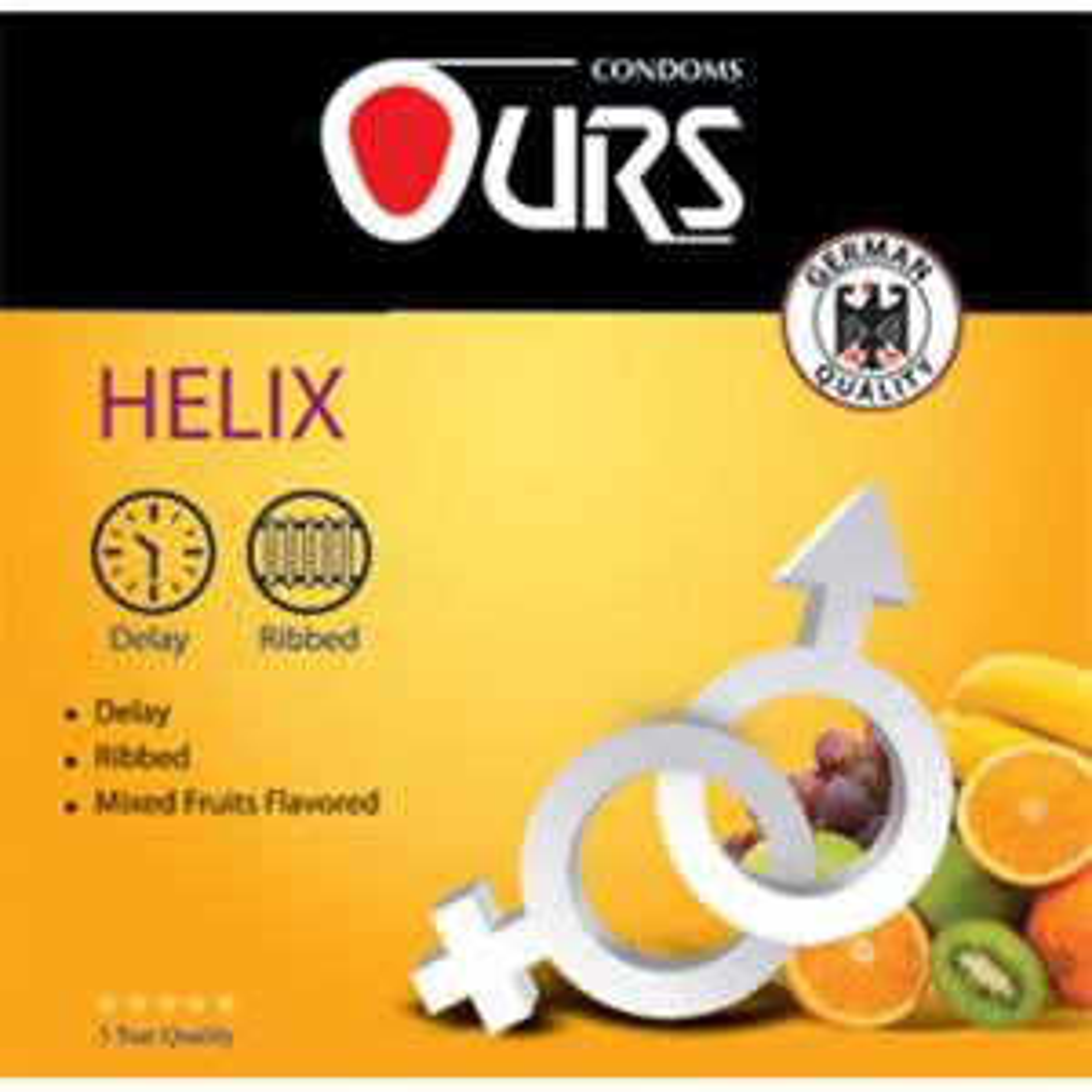 کاندوم تاخیری اورز مدل Helix بسته 3 عددی