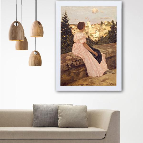 تابلو گالری استاربوی طرح زن مدل هنری L81