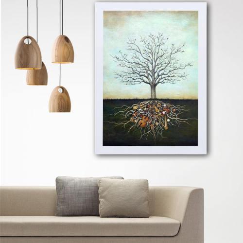 تابلو گالری استاربوی طرح درخت مفهومی مدل هنری L83