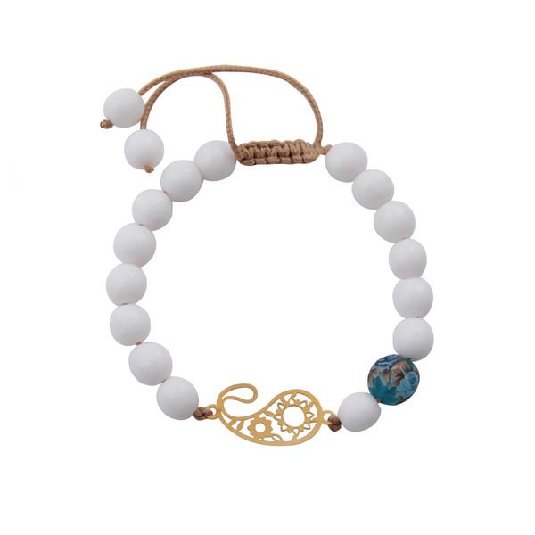 دستبند طلا 18 عیار زنانه گالری مهرسا مدل STB-115