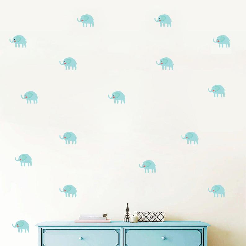 استیکر اتاق کودک  مدل فیل 01 بسته 48 عددی