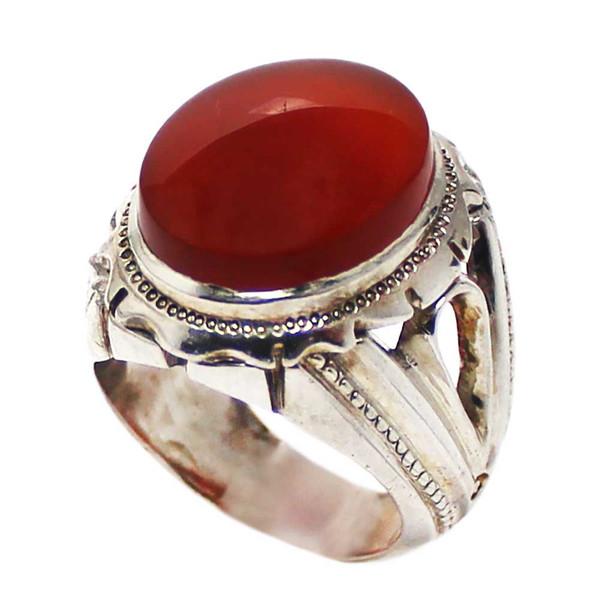 انگشتر نقره مردانه کد 01674