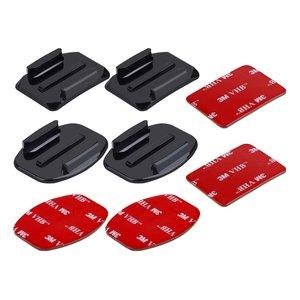 پایه و چسب تخت پلوز مدل PU09 مناسب یرای دوربین های ورزشی گوپرو بسته 8 عددی