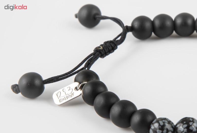 دستبند نقره مردانه ریسه گالری طرح الماس مدل Ri3-O1144-Silver