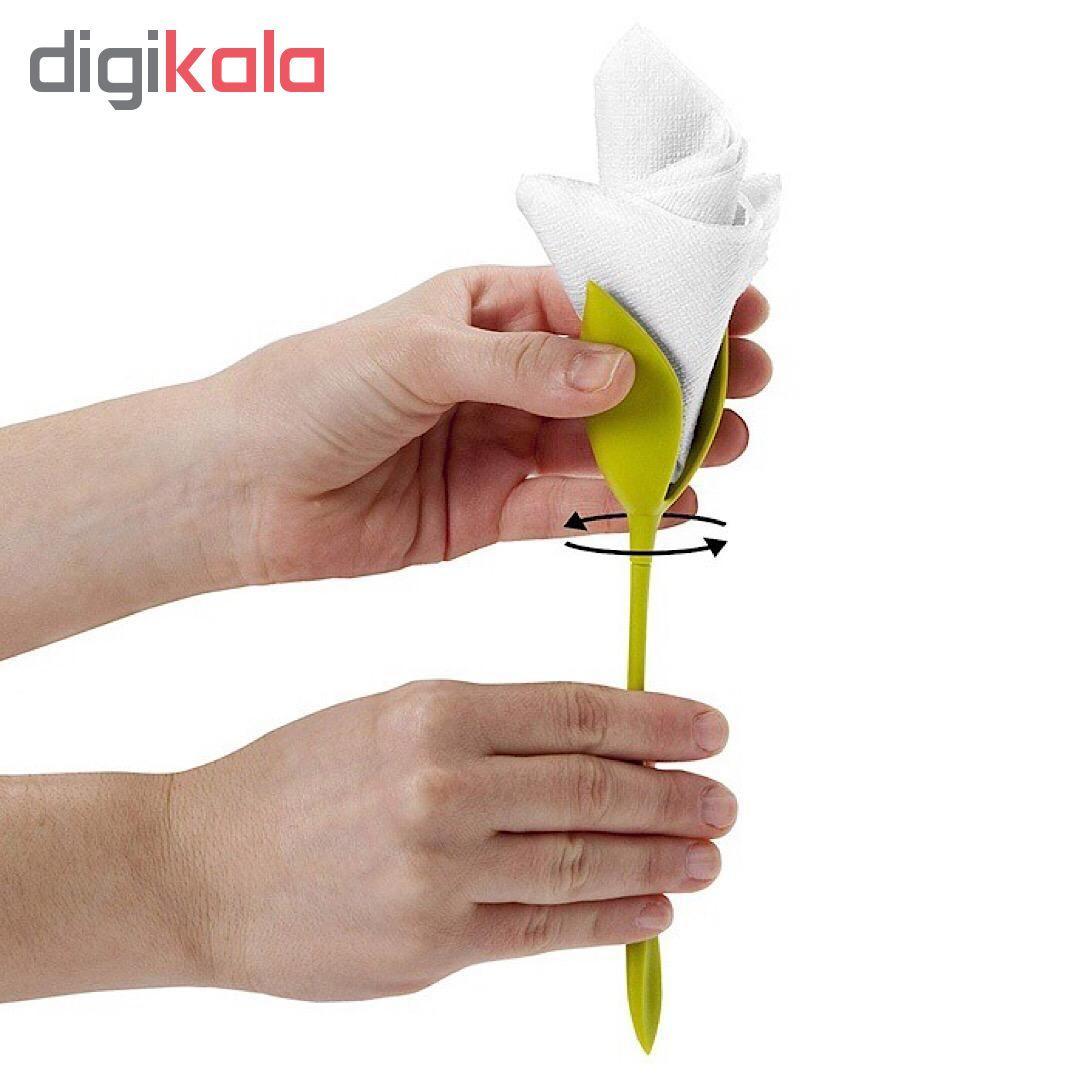 نگهدارنده دستمال طرح گل رز بسته 6 عددی main 1 5